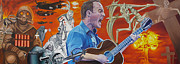 The Dave Matthews Band Paintings - Dave Matthews The Last Stop by Joshua Morton
