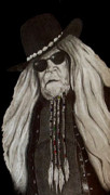 Outlaw Drawings - David Allan Coe by Tisha Beedle