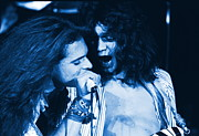 Van Halen Art - David and Eddie on Blue Fire by Ben Upham