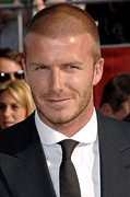 At Arrivals Prints - David Beckham At Arrivals For Arrivals Print by Everett