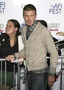 Arclight Hollywood Cinerama Dome Prints - David  Beckham At Arrivals For Lions Print by Everett