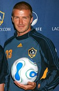 Athletic Sport Photos - David Beckham At The Press Conference by Everett
