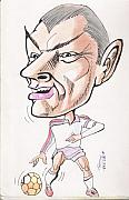 Soccer Drawings Originals - David Beckham by Tanmay Singh