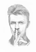 Ziggy Stardust Drawings - David Bowie by Erwin Verhoeven