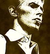 Bowie Mixed Media - David Bowie-if You Gotem Smokeem by Otis Porritt