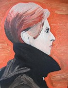 David Bowie Portrait Paintings - David Bowie by Jeannie Atwater Jordan Allen