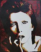 David Bowie Portrait Paintings - David Bowie by Ricklene Wren