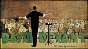 Entertainer Drawings Framed Prints - DAVID DEVANT POSTER c1910 Framed Print by Granger