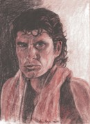 David Drawings - David Hasselhoff with Towel by Nancy Degan