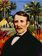 Livingstone Metal Prints - David Livingstone 1813-1873 Metal Print by Everett