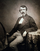 Burden Painting Metal Prints - David Livingstone (1813-1873) Metal Print by Granger