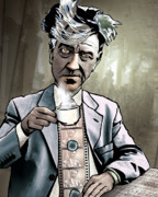 Celebrities Digital Art Prints - David Lynch - Strange Brew Print by Sam Kirk