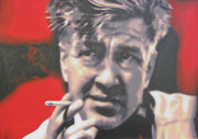 Black Painting Originals - David Lynch by Luis Ludzska