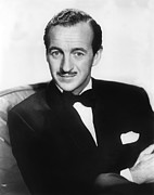 Suave Prints - David Niven, 1956 Print by Everett