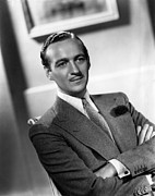 Slicked Back Hair Posters - David Niven, Ca. Late 1930s Poster by Everett