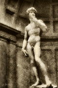 Renaissance Sculpture Prints - David No. 1 Print by Joe Bonita