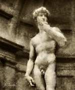 Renaissance Sculpture Prints - David No. 2 Print by Joe Bonita