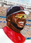 Mlb Painting Posters - David Ortiz Poster by Dave Olsen