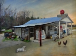 Country Store Painting Framed Prints - David Paces Gro. Framed Print by Doug Strickland