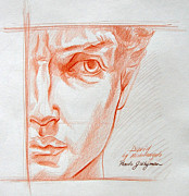 Michelangelo Drawings Prints - David Print by Pamela Whyman