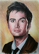 Dr. Who Metal Prints - David Tennant Metal Print by Andrew Read