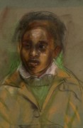 African-american Pastels - David the Apt Pupil by John Robinson