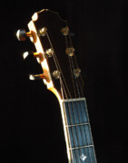 Guitars Photos - David Wren Headstock 02 by Ross Powell