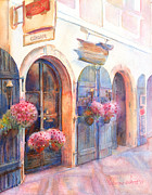 Praha Paintings - Davids Europe 4 - Prague by Yevgenia Watts