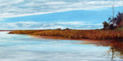 Waterscape Painting Metal Prints - Davis Bayou After the Storm Metal Print by Paul Gaj
