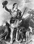 Texas Revolution Prints - Davy Crockett, American Folk Hero Print by Photo Researchers