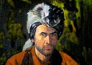 Skin Digital Art Prints - Davy Crockett Print by David Lee Thompson
