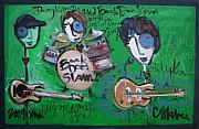 Slam Painting Prints - Davy Knowles and Back Door Slam Print by Laurie Maves