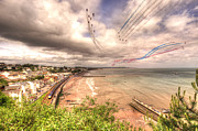 Stormy Weather Framed Prints - Dawlish Air Show 2012 Framed Print by Rob Hawkins