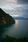 Mundo Prints - Dawn at Casa de Mundo Lake Atitlan 2 Print by Douglas Barnett