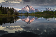 Grand Tetons Photos - Dawn at Oxbow Bend by Greg Nyquist