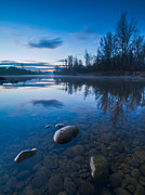 Blue Photos - Dawn at river by Davorin Mance