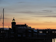 Saybrook Prints - Dawn at Saybrook Dock Print by Meandering Photography