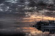 R J Ruppenthal Art - Dawn at the Marina by R J Ruppenthal