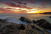Gold Coast Prints - Dawn at the Rocks Print by Mark Lucey