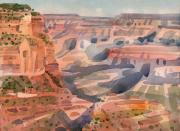 Plein Air Art - Dawn at the South Rim by Donald Maier