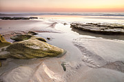 Rocky Beach Prints - Dawn Print by Bill Swindaman