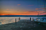 Finger Lakes Photo Metal Prints - Dawn Breaking Metal Print by Steven Ainsworth