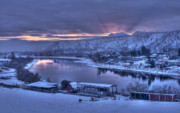 Kamloops Prints - Dawn Breaks over the Thompson Print by Peter Olsen