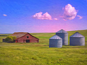 Old Barn Paintings - Dawn Glow by Dominic Piperata