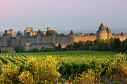 Carcassonne Prints - Dawn in Carcassonne Print by Brian Jannsen