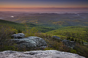 Pink Dawn Prints - Dawn In the Blue Ridge Print by Andrew Soundarajan