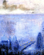 Prague Mixed Media - Dawn of Prague by Keiko Richter