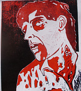 Lino Drawings Posters - Dawn of the Dead print 1 Poster by Sam Hane