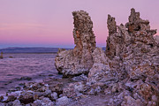 Mono Prints - Dawn on Mono Lake II Print by Sandra Bronstein