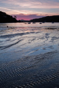 Rippled Sand Posters - Dawn on the Beach at Low Tide Poster by Louise Heusinkveld